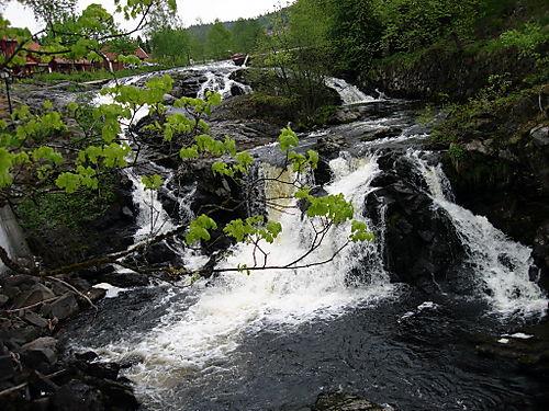 Waterfall at Bærumsverk, Norway