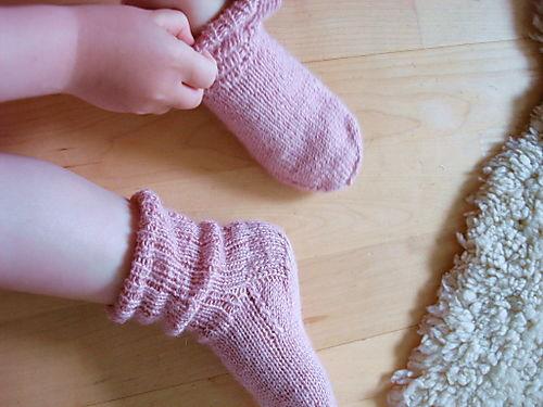 Lilly in socks