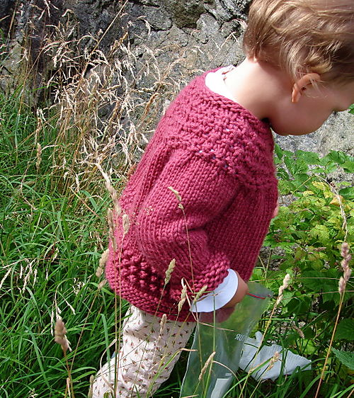 Lilly picking in rosebud pants and handmade sw