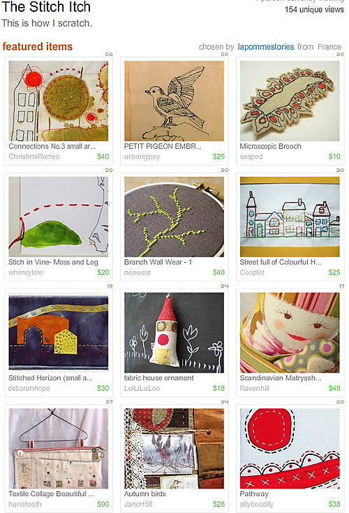 The Stitch Itch - on the Front Page of Etsy!