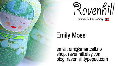 Ravenhill Business Card BLOG