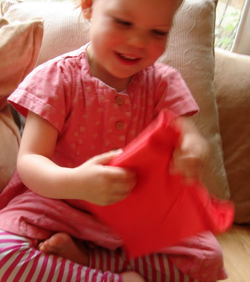 Lilly with present 2
