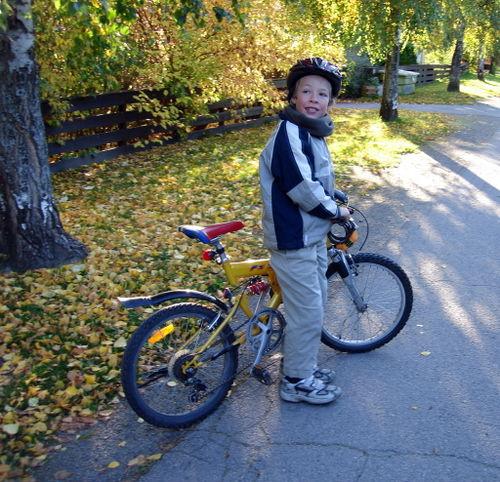 Seb with bike