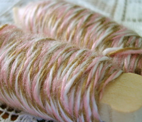 Pink and brown twine