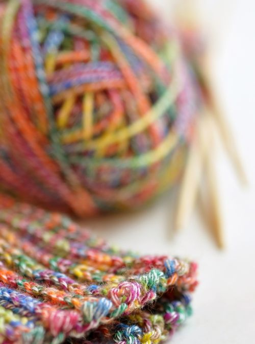 Candy colored knitting