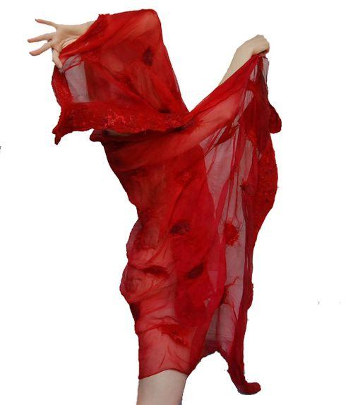 A red shawl