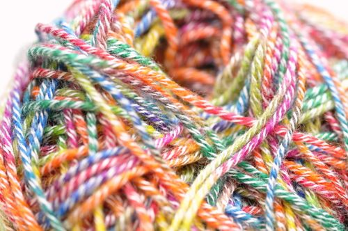 Candy colored knitting2