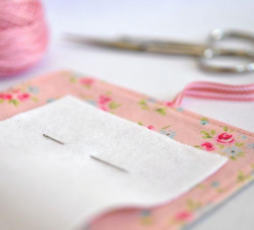 A pink needlecase